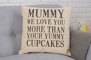 Mummy I Love You More Than Cushion - patterned cushions