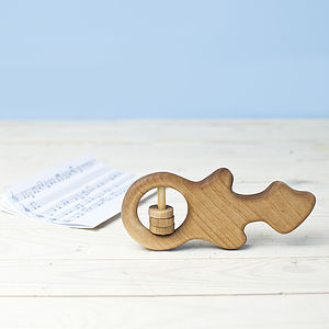 Organic Wooden Guitar Rattle
