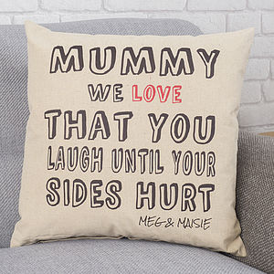 Personalised 'Mummy Love That' Cushion - view all mother's day gifts