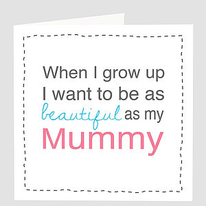 'Beautiful Mummy' Card