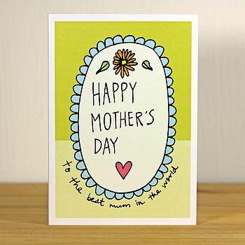 'Happy Mother's Day' A6 Greetings Card