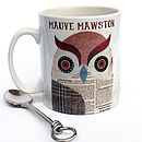 Teachers Personalised Tweed Owl Mug
