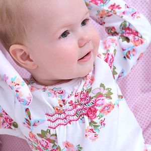 New Floral Babygrow - occasion wear