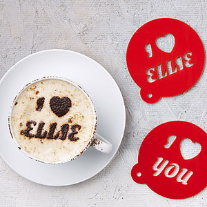 Personalised Heart Coffee Stencil - kitchen