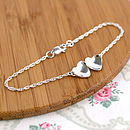 two hearts wedding bracelet