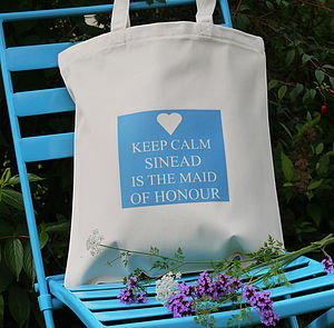 Personalised 'Maid Of Honour' Wedding Bag