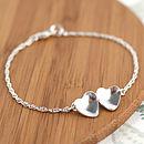 Handmade Silver Valentines Heart Bracelet