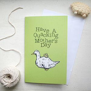 Farmyard Duck Mother's Day Card - winter sale