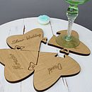 Personalised Wedding Keepsake Jigsaw Coasters