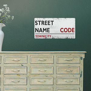 Small Personalised Street Sign Wall Sticker - wall stickers