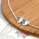 Handmade Silver Valentines Heart Necklace