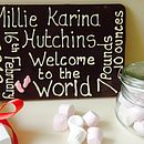 Personalised New Baby Giant Chocolate Plaque