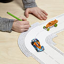 colouring pencil toy car track