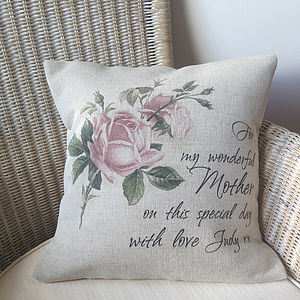 Personalised Mother's Day Cushion Cover - gifts by budget
