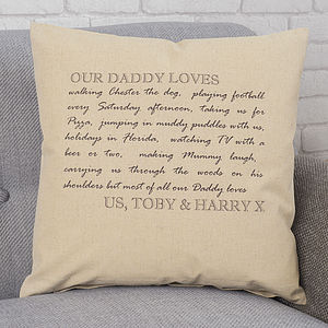 Personalised Dad Cushion - living room