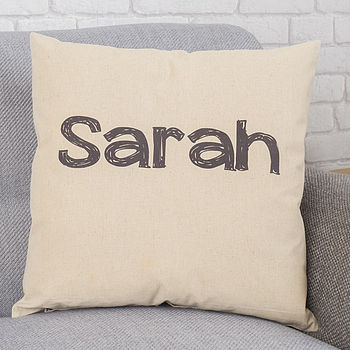 Personalised Handwriting Name Cushion