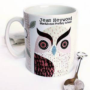 Personalised Eagle Owl Mug