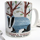 Badger Personalised Mug