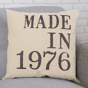 Personalised 'Made In' Cushion - living room
