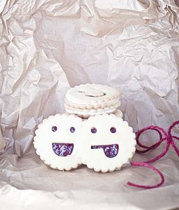 Ten Smiley Face Jammie Biscuits - food & drink gifts
