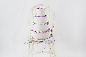 Edible Flower Buttercream Iced Wedding Cake - wedding cakes