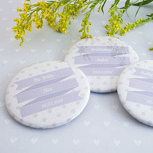 Personalised Floral Hen Party Badges