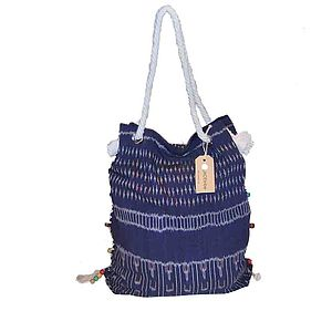 Jade Tribe Striped Seminyak Beach Sac