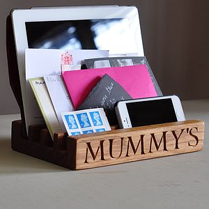 Mummy's Desk And Gadget Tidy - gifts for the home