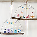 Beach Huts And Caravans Hanging Decoration