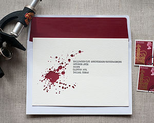 Bloody Letterpress Invitation