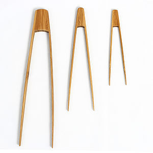 Bamboo Tongs - kitchen accessories