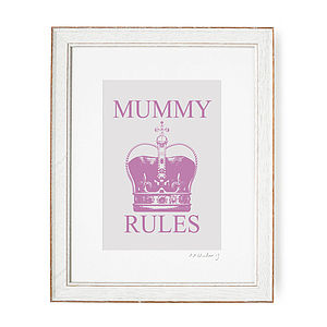 'Mummy Rules' Personalised Print