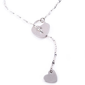 Heart And Locket Lariat Necklace