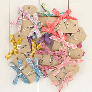 Bow Hair Clips - hair accessories