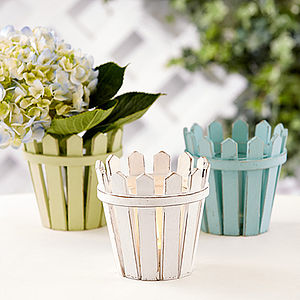 Picket Fence Tealight Holder - table decorations