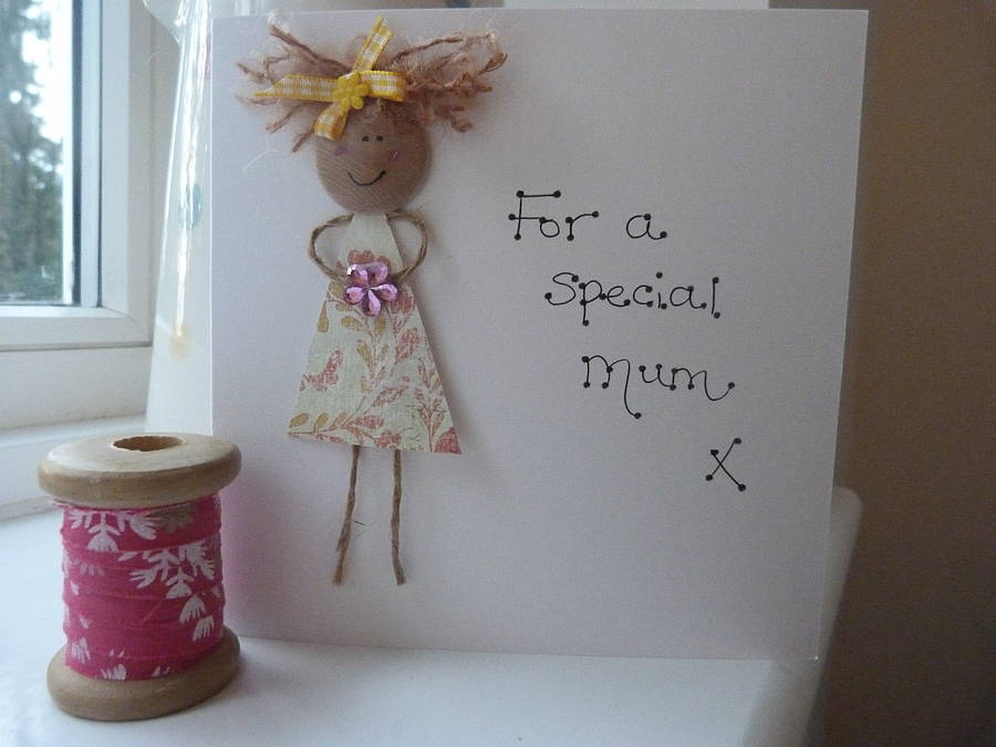 Mother's Day Personalised Dollie Card