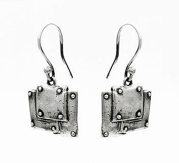 Steampunk Style Sterling Silver Earrings