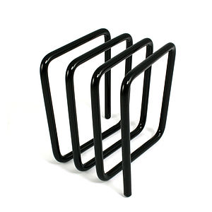Letter Rack, Grey - magazine racks