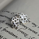 Silver Honeycomb Studs Polished