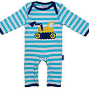 Organic Cotton Digger Applique Sleepsuit