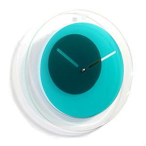 Orbit Wall Clock, Teal - clocks