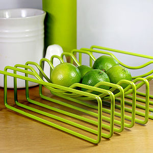 Wire Fruit Bowl, Green - fruit bowls