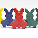 Set Of Six Easter Bunny Crayons