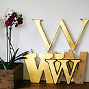 Genuine Vintage Shop Letters 'W'