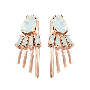 Arctic Opal Statement Earrings - earrings