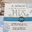 Letterpress Bridal Shower Invitation