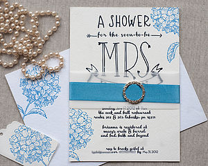 Letterpress Bridal Shower Invitation - hen party styling