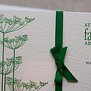Cow Parsley Letterpress Wedding Invitation
