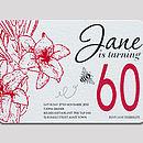 60th Birthday Letterpress Invitation