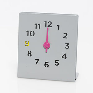 Desk Clock, Grey